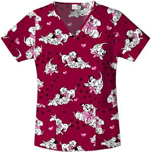 Disney Dalmation Fun V-Neck Top