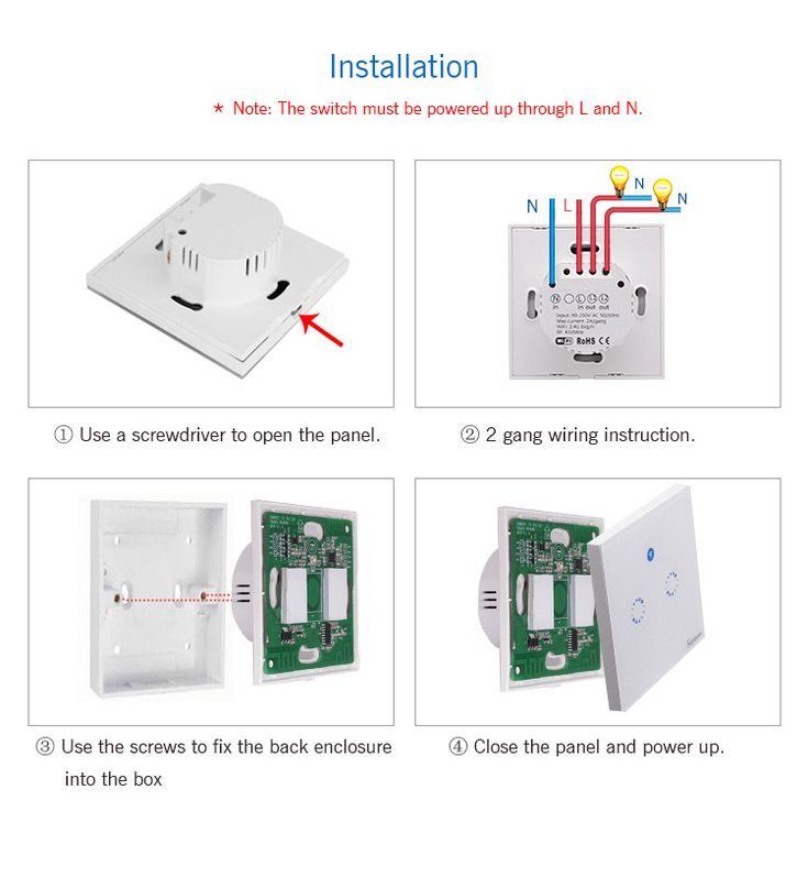 SONOFF® T1 EU AC90V-250V 600W Smart Wifi Wall Touch Light Switch 1 Gang 2 Gang Touch/WiFi/433 RF/APP Remote Smart Home Controller Work With Alexa Sale - Banggood.com