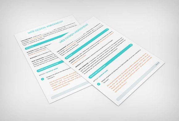 Web Design Contract Template by vandelay on @creativemarket
