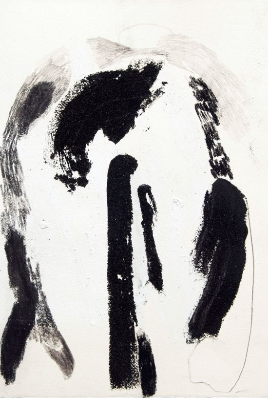 Lucy Jane Turpin, 'Untitled 2' (2016), Oil bar, charcoal and Icelandic black sand on Hahnemüle, 39.5 x 27.3cm
