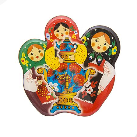 Magnet with nesting dolls and samovar