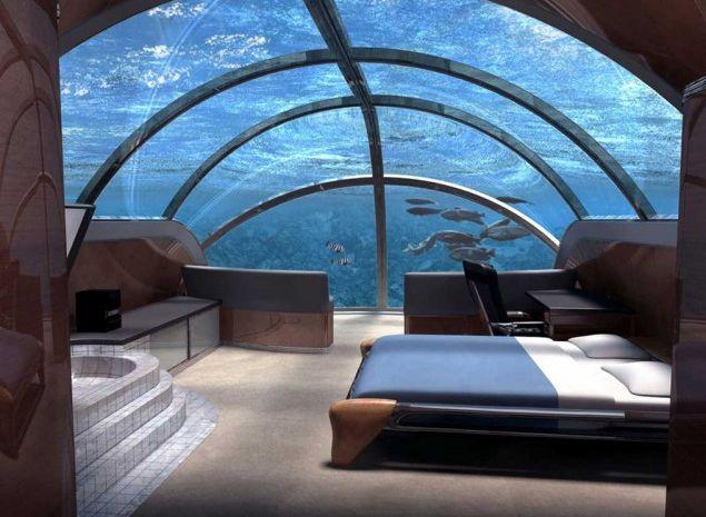 Undersea Resort poseidon ile fidji,C'est un séjour sous la mer qu'offre le Poseidon Undersea Resort, établissement des îles Fidji. Les clients sont accueillis dans un cadre spectaculaire et profitent d'une vue imprenable sur les fonds marins et leurs innombrables trésors. Une structure en acrylique transparente les sépare des merveilles de l'océan.