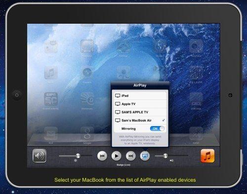 Mirroring iPad to MacBook App