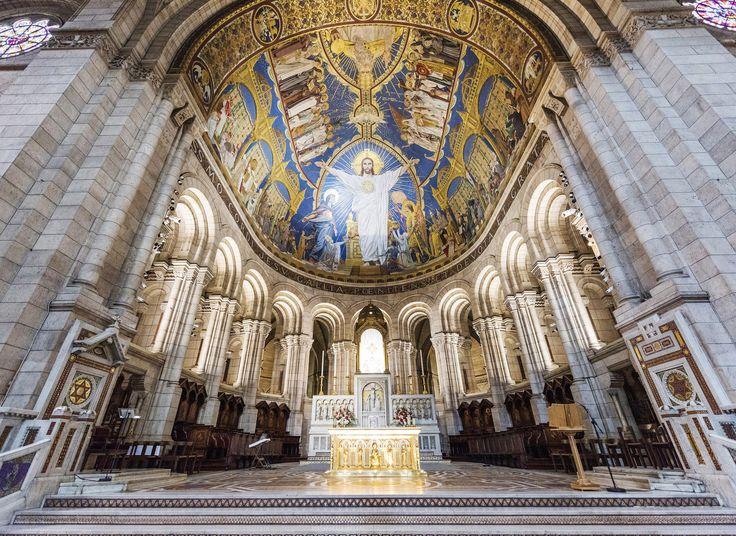 Basilica du Sacré-Coeur de Montmartre Paris, France building place of worship cathedral basilica Church byzantine architecture facade baptistery altar chapel ancient history synagogue close stone
