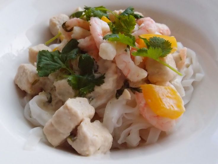 Quorn Noodles with Shrimp and Coriander by Tummies Full