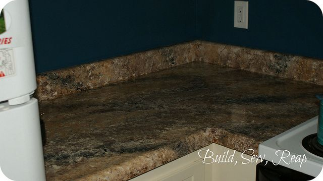 Countertop Paint Repair : Painted countertops that look like granite...need to do ours like this ...