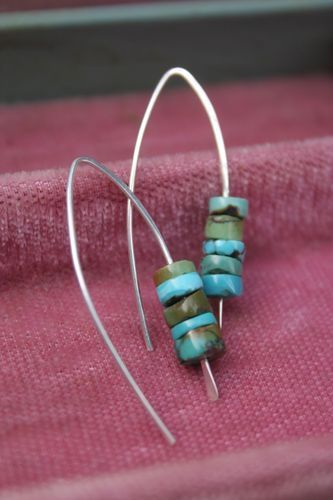 Yes! NOW you're finished. And just look at those lovely ear wires. Your mother will be so proud! And, if you're excited about these earwi... - Idea: Try this with paper beads & wire!
