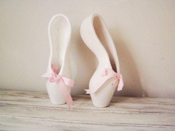 Ballerina shoes sculpture ceramic ballerina shoes of por ArktosArt