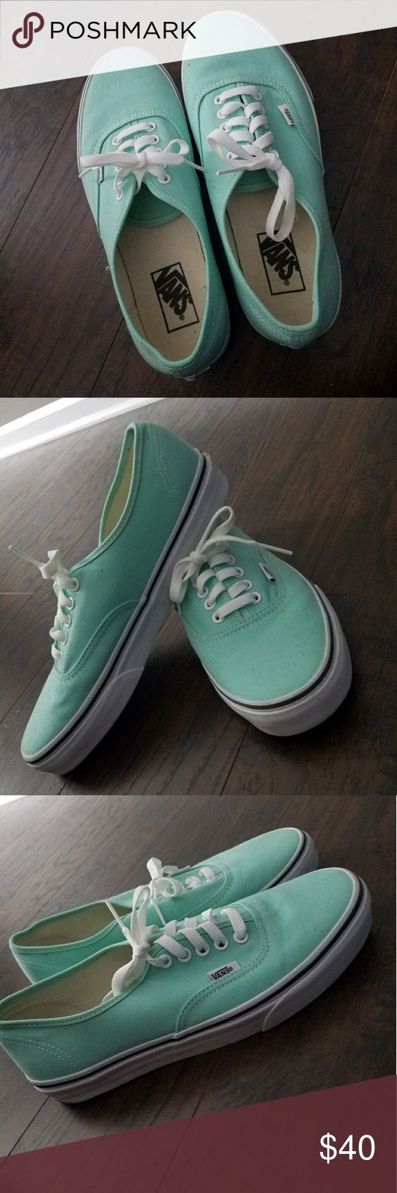 Teal Vans sneakers Teal Van sneakers very good condition Vans Shoes Sneakers