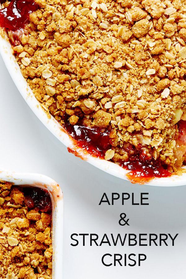 Super simple and delicious Apple and Strawberry Crisp Recipe #BiteMeMore