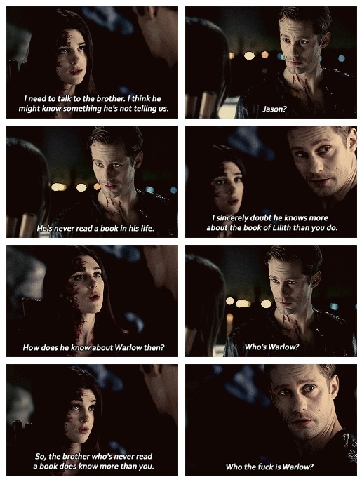 Eric and Nora...6X01 True Blood. Scene was funny but, damn..Nora is fucking annoying. I hope Jason gives her the true death. Pmsl!