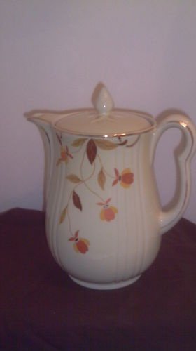 JEWEL TEA (Autumn Leaf) Coffee/Tea Pot by HALL CHINA (sku JT & 246 best Jewel Tea
