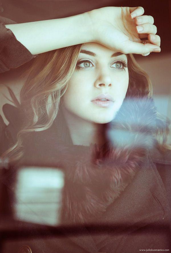 Minus the dramatic pose... ©Julia Kuzmenko, brilliant photography, woman, glass, window, portrait