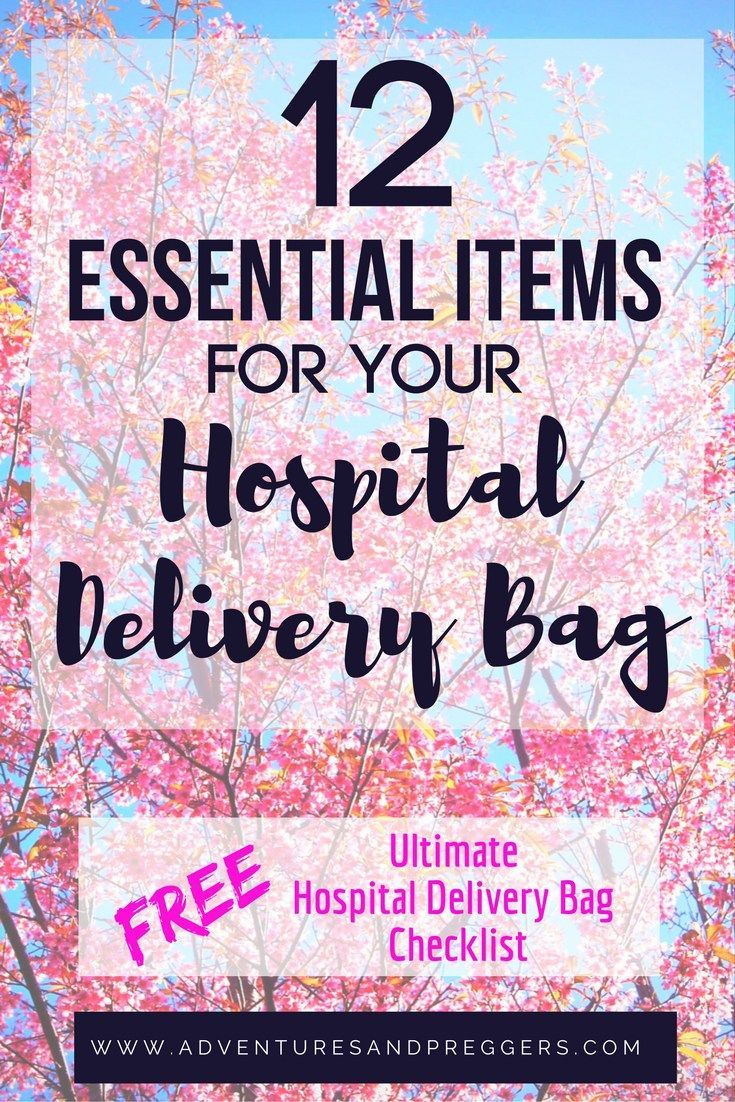 12 Essential Items for your Hospital Delivery Bag + FREE Ultimate Hospital Delivery Bag Checklist - Dont forget a thing when its time to head to the hospital. Some common and some untold treasures, your will be glad you saved this! Read it now!