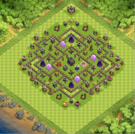 Town Hall 9 Farming Base Clash Of Clans | Update 2017