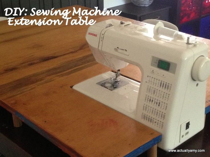 Great DIY: Sewing Machine Extension Table This Is A Great And Portable Item.  Quilters Should Really Consider This. I Have A Permanent Extension      Works Great!