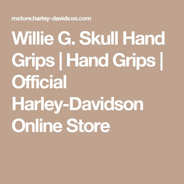 Willie G. Skull Hand Grips | Hand Grips | Official Harley-Davidson Online Store