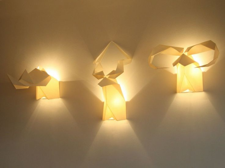 Home Decor, Origami Handicraft Wall Light Design: Insanely Cool Wall Lights Design for Your ...