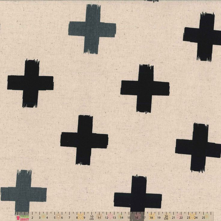 Japanese Import - Koutei - Crosses On Natural Oxford Cloth