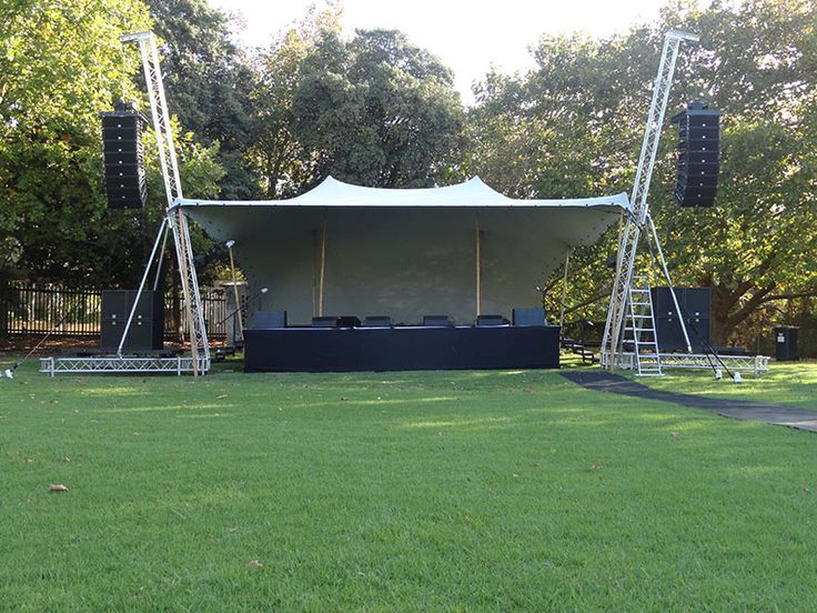 Stage tents and events - View our portable stage cover photos