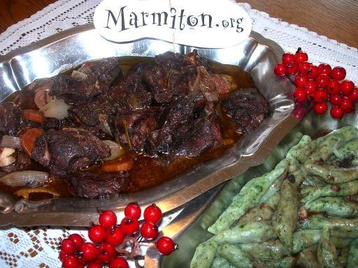 Daube de sanglier au cognac - Recette de cuisine Marmiton : une recette