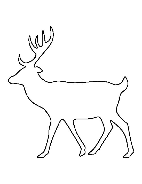Deer pattern. Use the printable outline for crafts, creating stencils, scrapbooking, and more. Free PDF template to download and print at http://patternuniverse.com/download/deer-pattern/