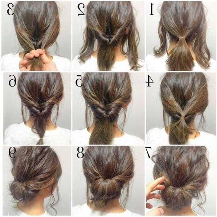 Explore Gallery Of Easy Do It Yourself Updo Hairstyles For Medium Length Hair 7 Of 15 Short Hair Styles Easy Hair Styles Simple Wedding Hairstyles