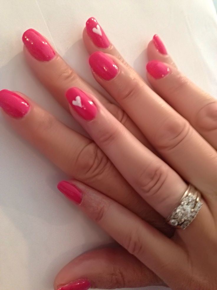 1 ETERNAL NAIL STYLE DEANNA  at. MIA SPA CAN DO FOR YOU .  Bright pinks with a touch of love .