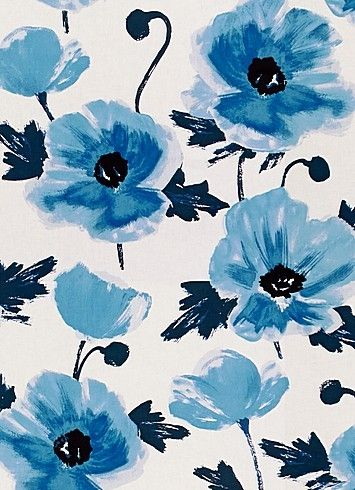 Amapola Cornflower   Kate Spade Fabric   Transitional Floral Print On 100%  Cotton Fabric. Ideal For Window Treatments Or Furniture Upholstery.