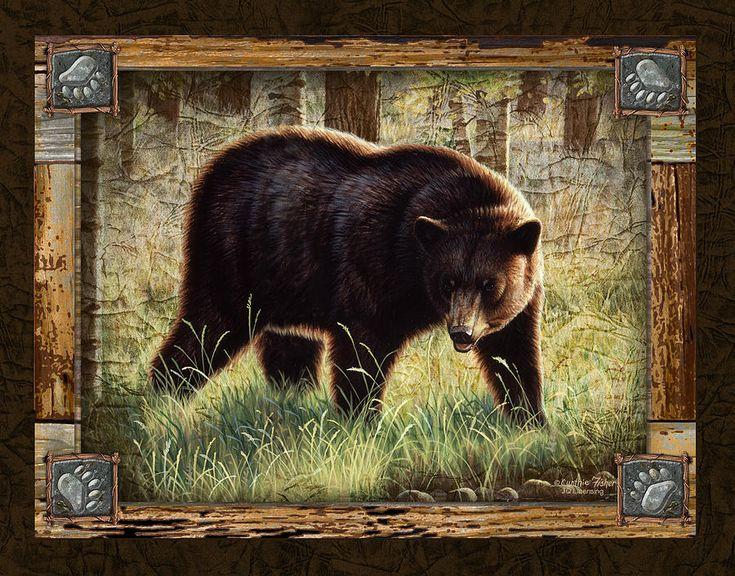 Black Bear Paintings | Deco Black Bear Painting