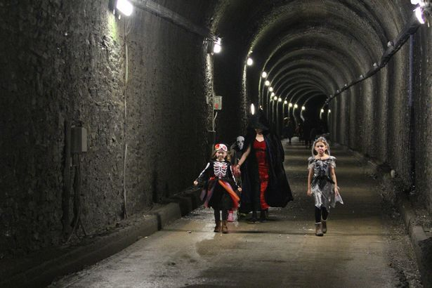 Watch as children ride through Cornwall's secret disused train tunnel from Par to Fowey - It is only opened to the public a couple times a year and the event was for the Believe in Aiden fundraising campaign