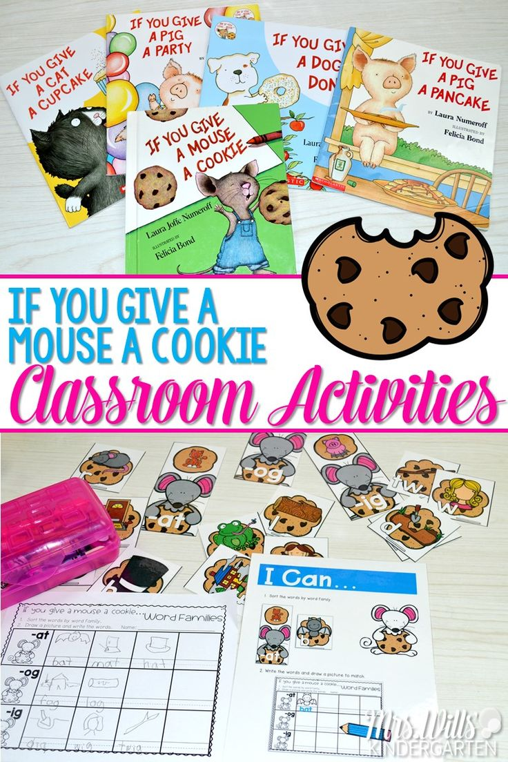Laura Numeroff classroom activities!  If you give a mouse a cookie and similar fun books in the series student favorites.   Math centers and literacy centers your kindergarten class with be excited about.  Patterns, addition, skip counting, time, word families, sight words, vowels, and MORE!  Check it out! via @deedee_wills