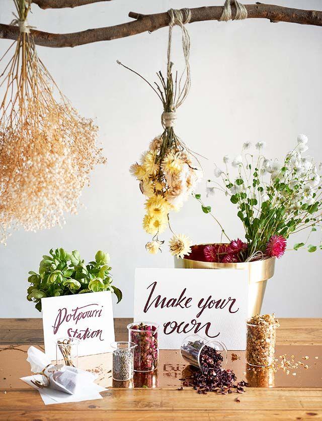 Make you own potpourri table!