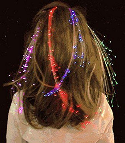 Faser Optisch LED Haar Lichter - Technoelfe ;-)