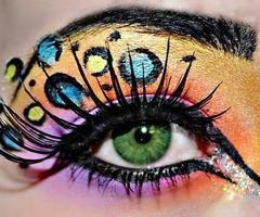eye shadowColors Makeup, Make Up, Fun Makeup, Beautiful, Crazy Eye Makeup, Neon Colors, Eyeshadows, Eyemakeup, Cheetahs Prints