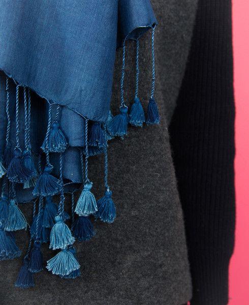 Wild Silk Scarf - Blue // Okka Found