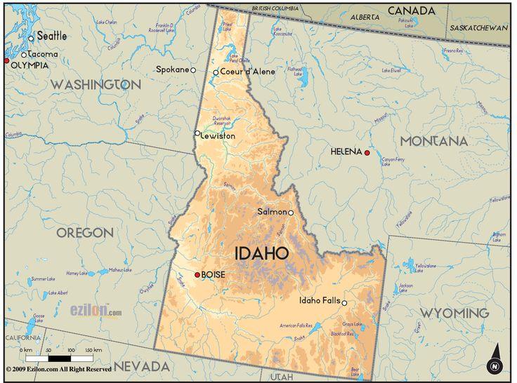16 best Idaho images on Pinterest Idaho Maps and 50 states