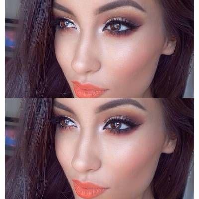 Make linda com batom laranja                                                                                                                                                                                 Mais