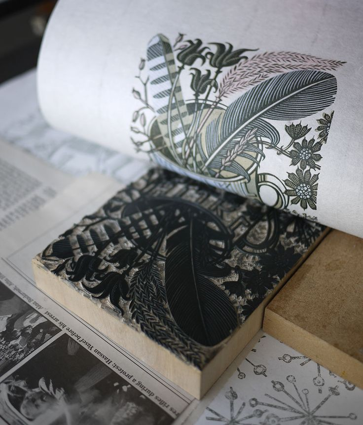 "Angie Lewin's ""Alphabet & Feathers"" limited edition wood engraving for the V&A http://www.angielewin.co.uk/collections/sold-out-editions/products/alphabet-and-feathers"