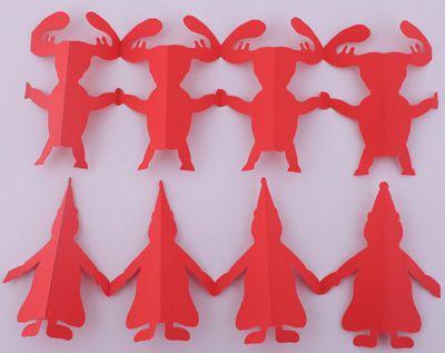 Guirlande de Noël en papier, Déco Noël à fabriquer - Loisirs créatifs