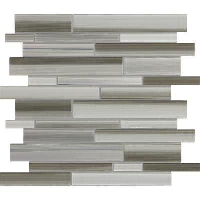 sassi tribeca mist strip glass mosaic 12 171 home Home Depot Self Adhesive Backsplash Home Depot Kitchen Glass Backsplash