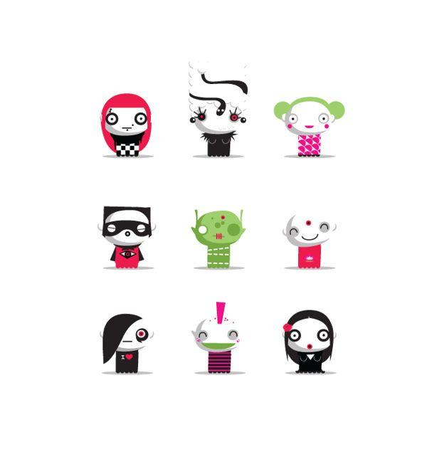 Little vector characters by Marie Breuer, via Behance