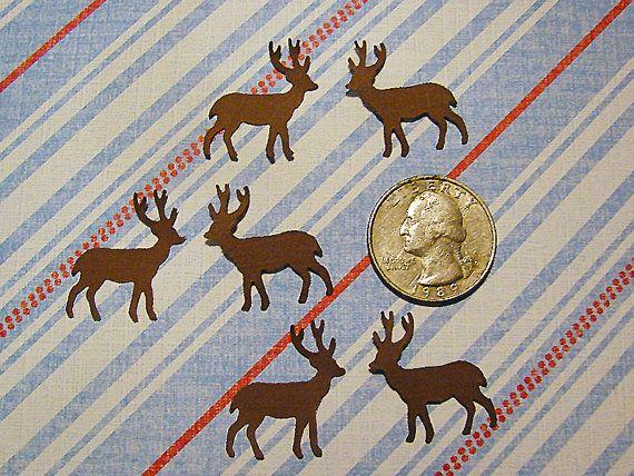 100 Christmas Brown Martha Stewart Reindeer Paper Punch Die Cut Embellishment