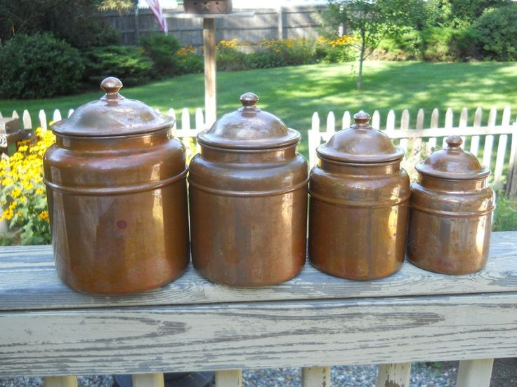 Copper Canister Set Revere Ware Primitive Colonial