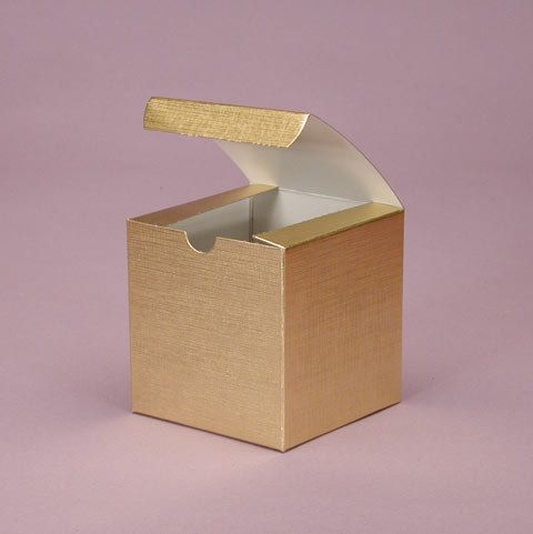 Set Of 25 Metallic Gold Or Silver 3x3x3 Inch Wedding Favor Cupcake