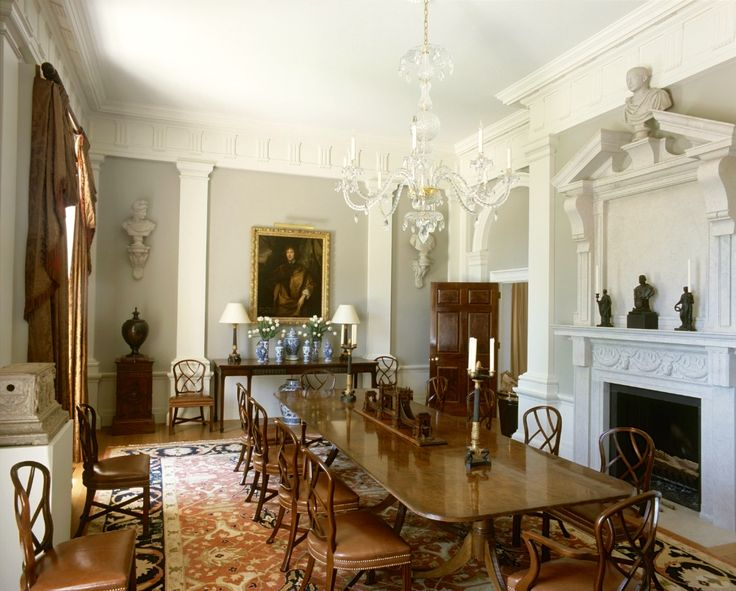 Gorgeous Grey English Dining Room By Quinlan And Francis Terry. Decoration  By Mlinaric, Henry