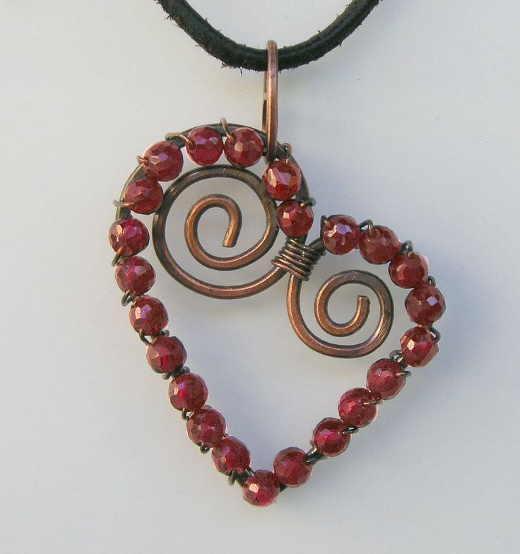 Where's my hammer??? // GarnetWrappedHeart: Wire Work, Garnetwrappedheart, Wire Wraps, Beads, Necklaces, Wire Tutorials, Jewelry Ideas, Heart Pendants, Garnet Wraps