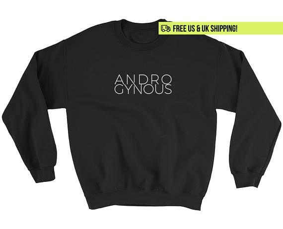 Androgyne Sweatshirt / TShirt Androgynie niet binaire binaire lgbt queer agender grijze gender rollen gelijkheid feministische trui shirt t-shirt