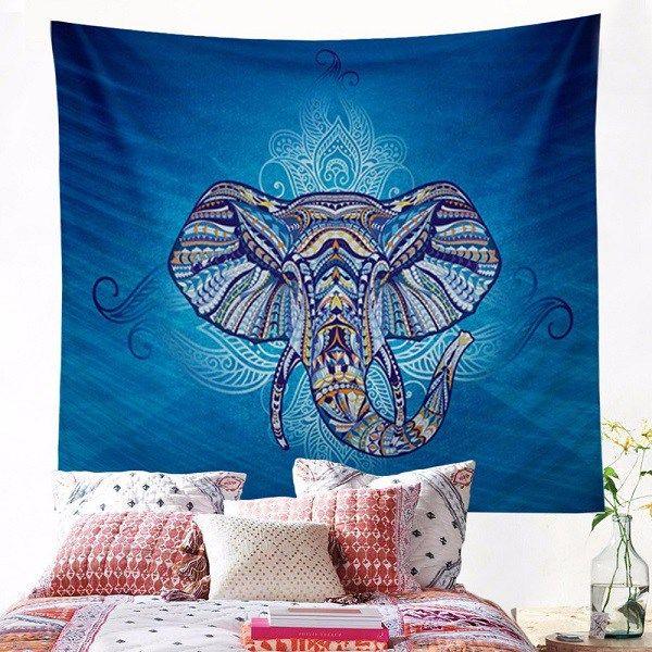 Tapiz Elefante De Pared Hindú Estilo Bohemio Hippie En Azul //Price: $15.48 & FREE Shipping //     #ethnicwear