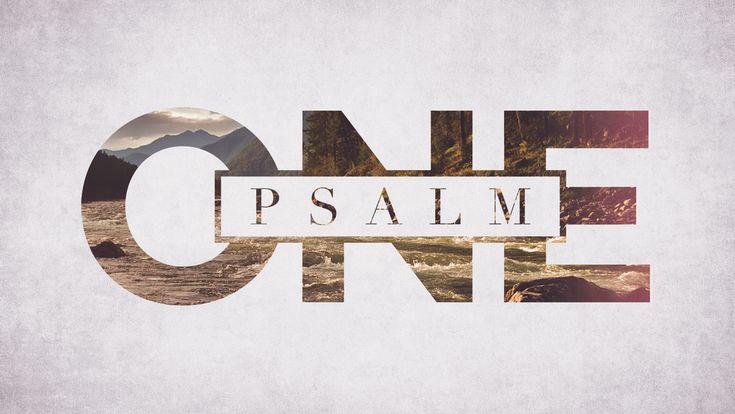 Psalm One Sermon Series Idea - Just like the layout.